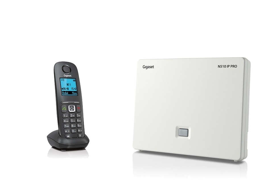 Gigaset N510IP Base Station and Gigaset A540H DECT Phone Bundle - One Handset