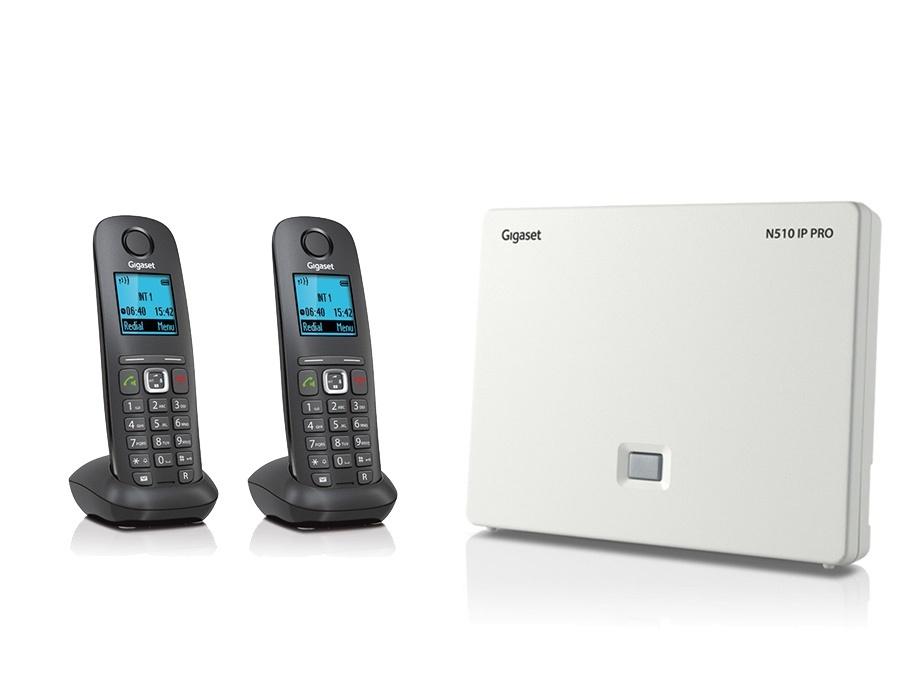 Gigaset N510IP Base Station and Gigaset A540H DECT Phone Bundle - Two Handsets