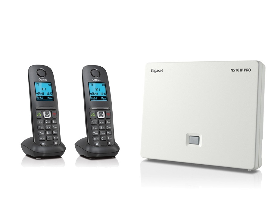 Gigaset N510IP Base Station and Gigaset A540H DECT Phone Bundle - Two Handsets