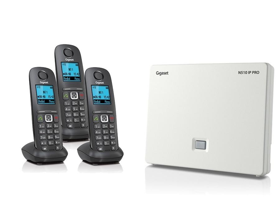 Gigaset N510IP Base Station and Gigaset A540H DECT Phone Bundle - Three Handsets