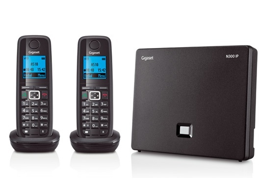Gigaset N300IP DECT Base Station & Gigaset A510H Cordless DECT Phones Two Handsets Bundle