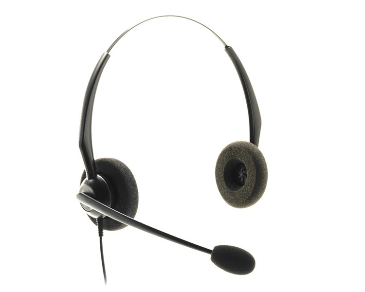 JPL Telecom JAC Plus Binaural Headset with Plantronics Quick Disconnect Plug (JACPLUSPLXB)