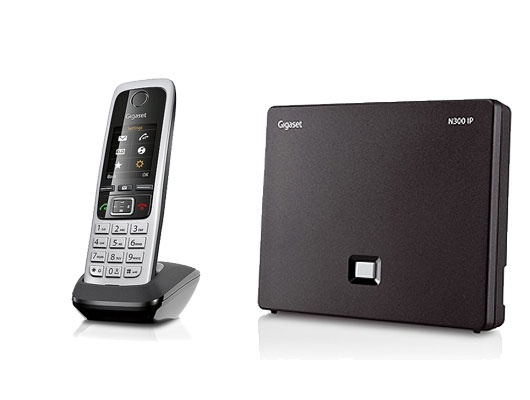 Gigaset N300IP Base Station and Gigaset C430HX DECT Phone bundle - One handset