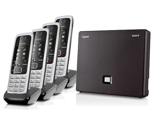 Gigaset N300IP Base Station and Gigaset C430HX DECT Phone bundle - Four handsets