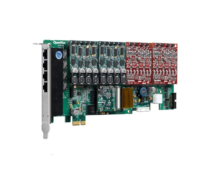 OpenVox AE1610E 16 Port Analog PCI Express card with Echo Cancellation