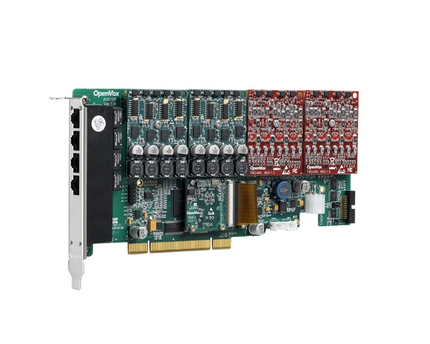 OpenVox AE1610P 16 Port Analog PCI card with Echo Cancellation