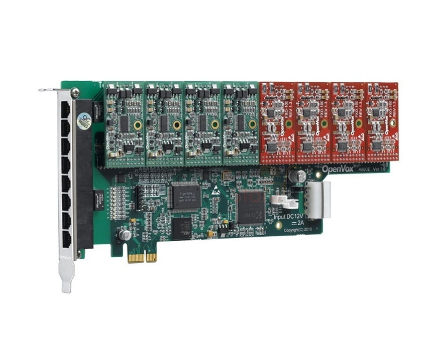 OpenVox A800E PCI Express Asterisk Card