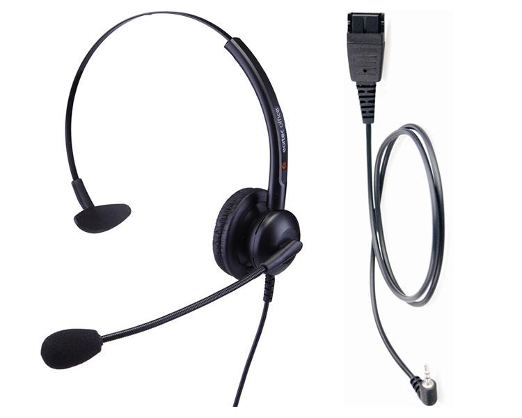 Plantronics Eartec EAR-308 / EAR-QD011 VoIP Headset Bundle