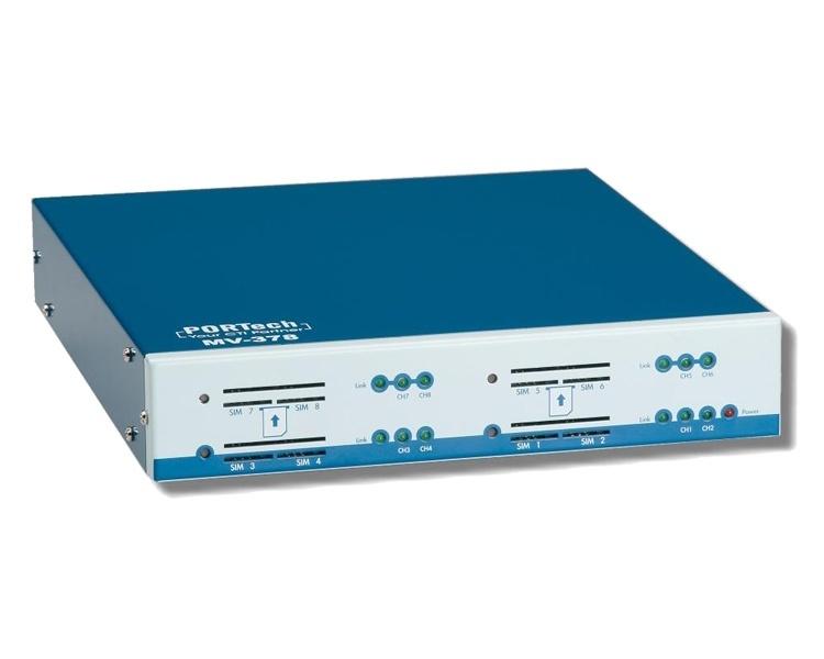 PORTech MV-378 - 8 channel GSM/VoIP Gateway