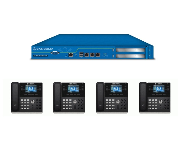 Sangoma s500 IP Phone & FreePBX 60 Bundle