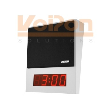 Valcom VIP-411-DS One Way Surface Mount Speaker w/  Digital Clock