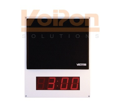 Valcom VIP-412-DF One Way Flush Mount Speaker w/ Digital Clock